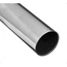 Exhaust Tip Single Piece; Straight, Polished, Round 90mm