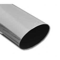 Exhaust Tip Single Piece; Le Mans, Chromed, Round 76mm