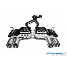 BMW F80 M3 / F82 /F83 M4 Eisenmann Performance Rear Silencer complete with slant cut aluminium exhaust tips.